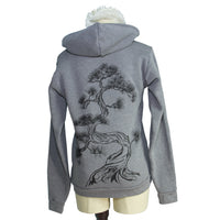 Heather Ash Grey Japanese Pine Tree Zip Hoodie - Yay for Fidget Art!