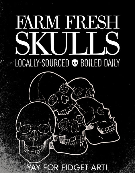 """Farm Fresh Skulls"" Giclee Illustration Print"