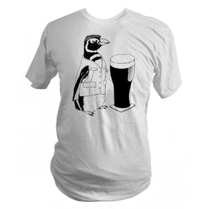 Made to Order Beer Penguin T-Shirt - Yay for Fidget Art!