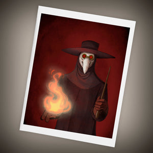 The Plague Doctor Blank Single Greeting Card Size A2, Halloween - Yay for Fidget Art!