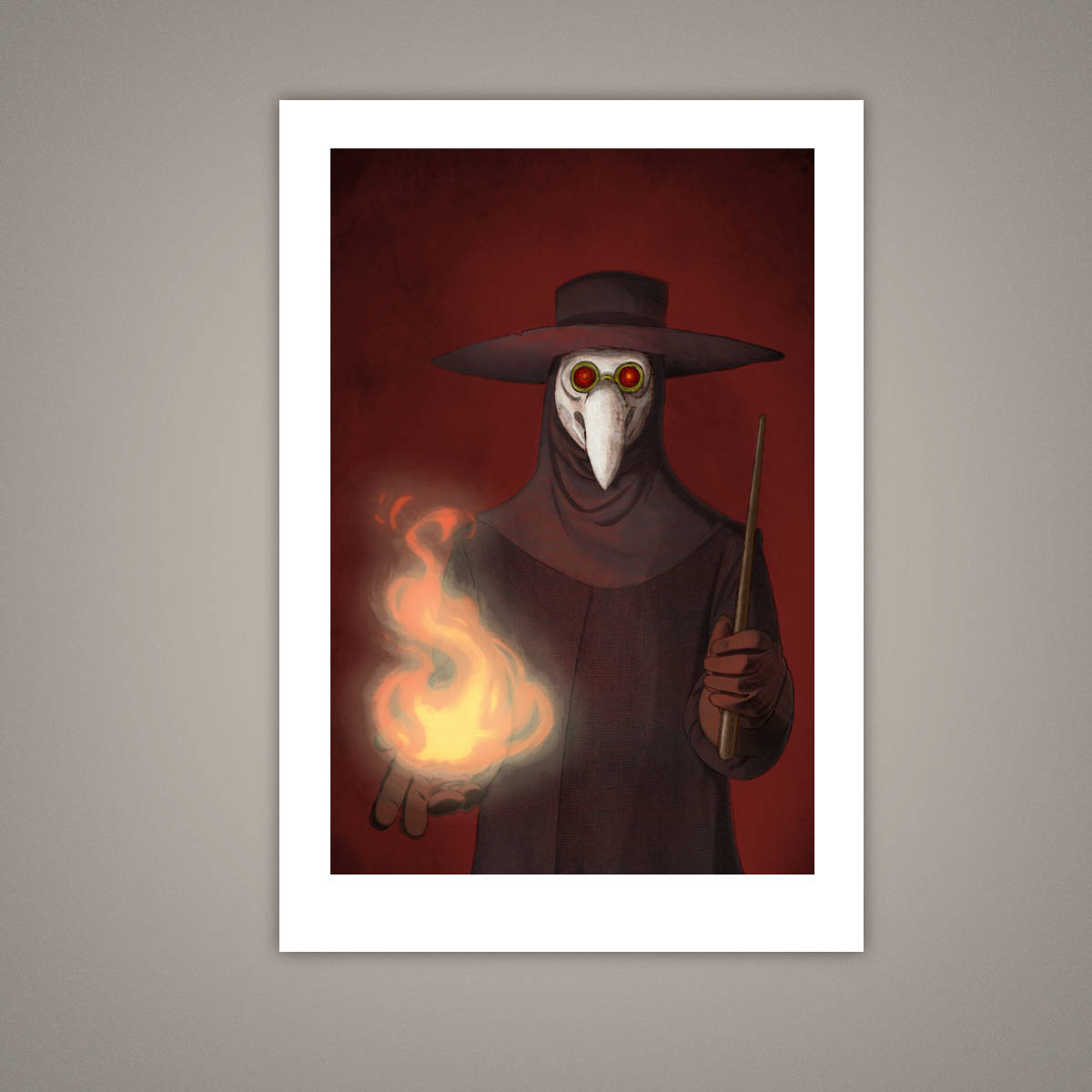 The Plague Doctor Giclee Illustration Art Print - Yay for Fidget Art!