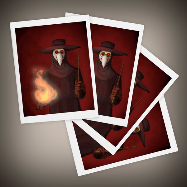 The Plague Doctor Blank Greeting Cards Size A2 Set of FOUR - Yay for Fidget Art!