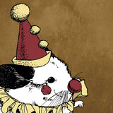 "Opera Clown Chinchilla 5x5"" Giclee Illustration Art Print - Yay for Fidget Art!"