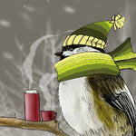 Chilladee the Chickadee Giclee Illustration Print - Yay for Fidget Art!