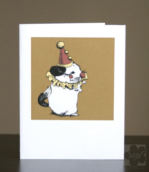 Opera Clown Chinchilla Greeting Cards A2 Set of FOUR - Yay for Fidget Art!