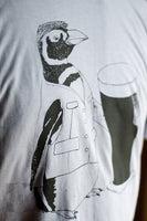 Slate Grey Beer Penguin T-Shirt - Yay for Fidget Art!