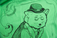 Grass Green Dapper Red Fox Gentleman T-Shirt - Clearance - Yay for Fidget Art!