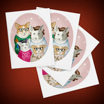 Welsh Corgis Christmas Greeting Cards - Set of FOUR - Yay for Fidget Art!