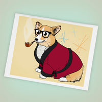 Bob Corgman the Welsh Corgi Greeting Cards - Set of FOUR - Yay for Fidget Art!