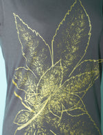 Asphalt Grey Japanese Maple Leaves Women's T-Shirt - Yay for Fidget Art!