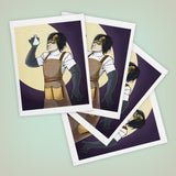 Mad Scientist Size A2 Blank Greeting Card - Set of Four - Yay for Fidget Art!