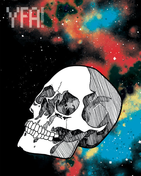 """Cosmic Skull"" Giclee Illustration Print"