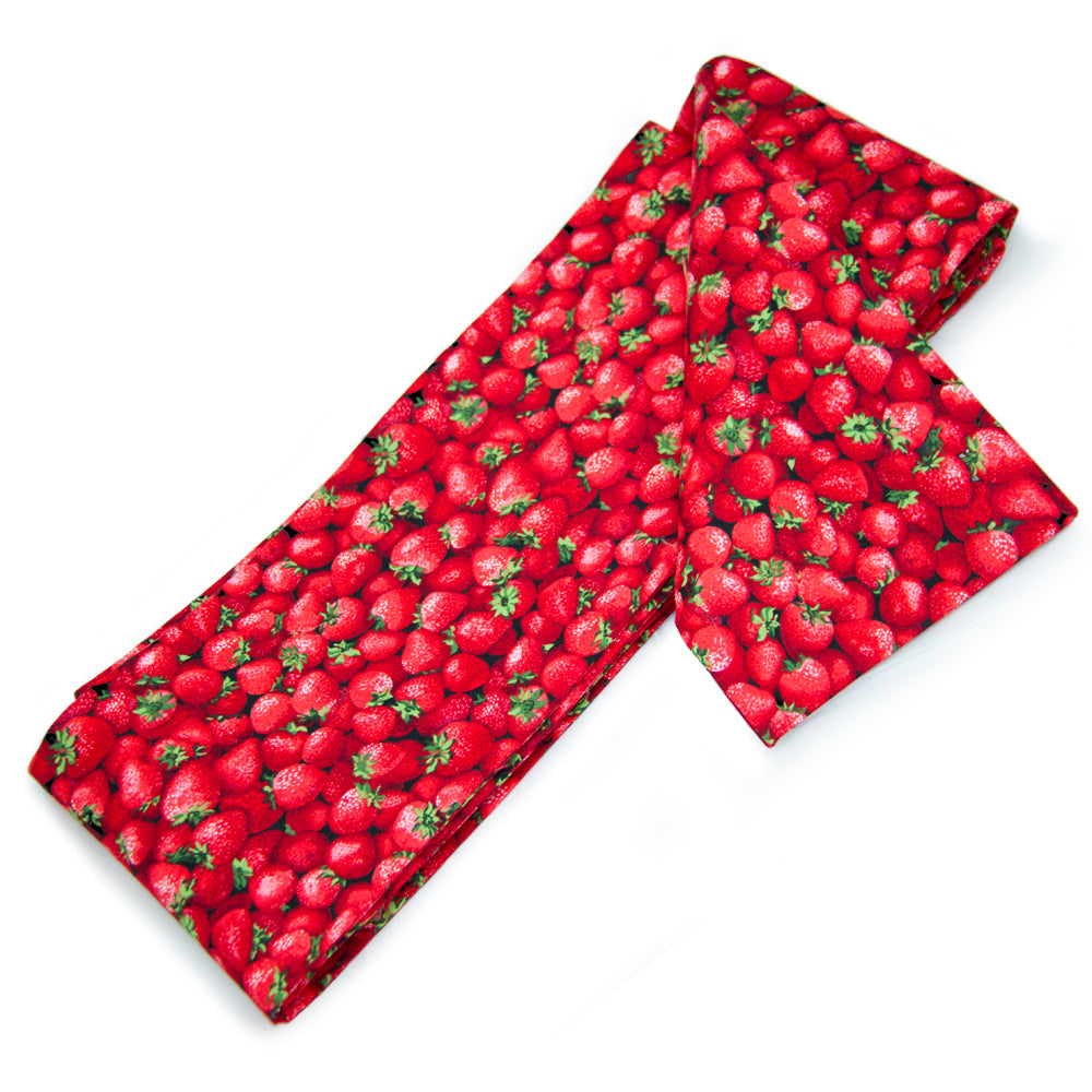 Kawaii Red Strawberries Print Hanhaba Obi - Yay for Fidget Art!