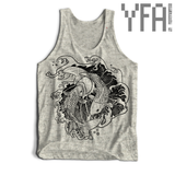 Made-To-Order Fighting Koi Fish Tri-Blend Unisex Tank Top