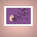Chocolate Truffle Bats Halloween Giclee Illustration Art Print - Yay for Fidget Art!