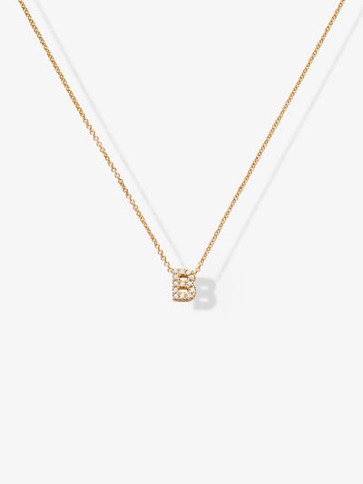 Love Letters B Diamond Necklace