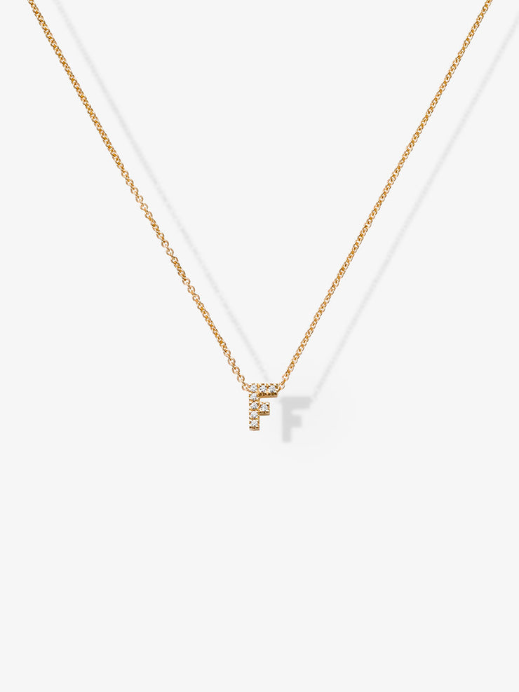Love Letters F Diamond Necklace