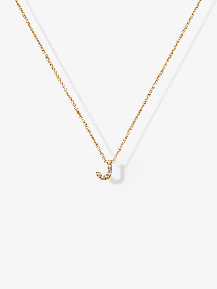 Love Letters J Diamond Necklace