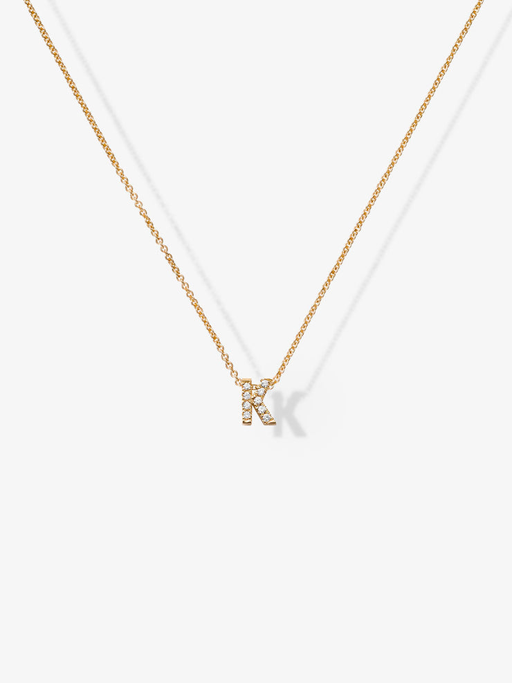 Love Letters K Diamond Necklace