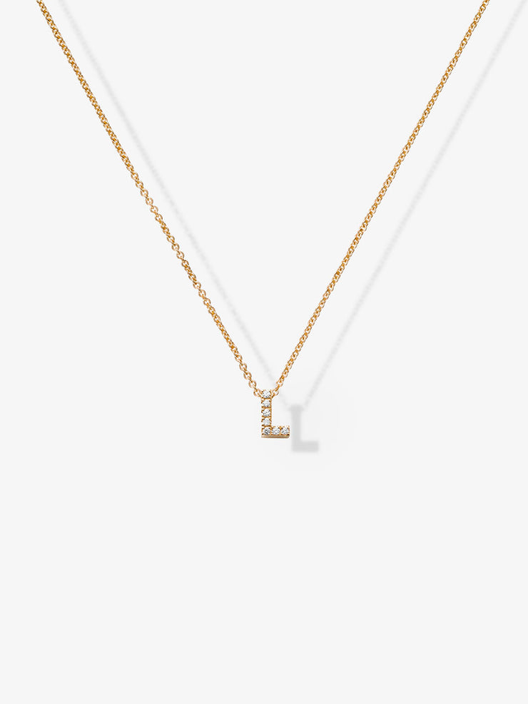Love Letters L Diamond Necklace