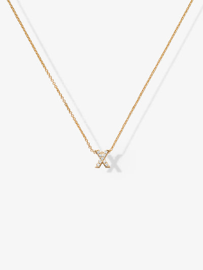Love Letters X Diamond Necklace