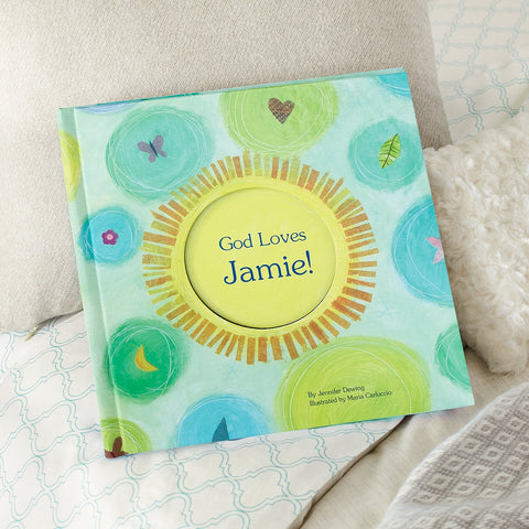 #10 God loves me personalized book Christian Easter Gifts for Kids