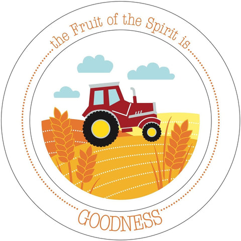 #10 fruit of the spirit kids plate christian gifts for new mom dad expecting parents