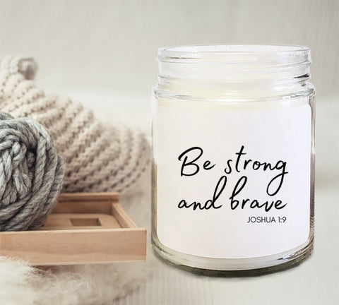 #10 joshua 1 9 candle inexpensive christian gifts for women