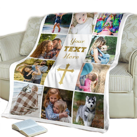 #11 blanket with pictures  Christian personalized baby gifts