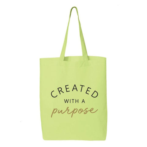 #11 created with purpose tote bag inexpensive christian gifts for women