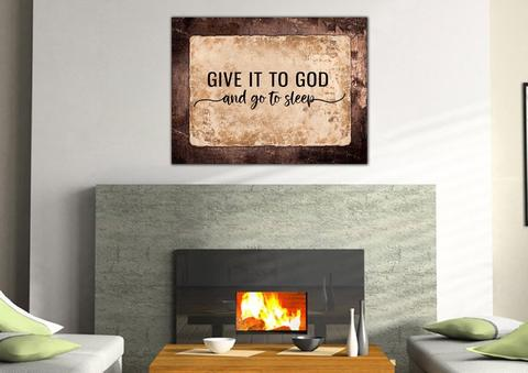 13. give it to god and go to sleep Christian Gifts for boyfriend