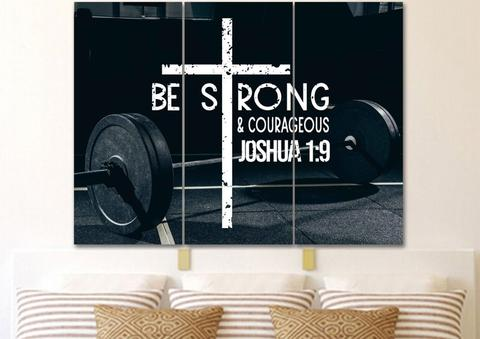 #13 Be strong wall art christian gifts for guys male teenagers