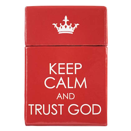 #13 Keep Calm & Trust God, A Box of Blessings gifts for christian college students