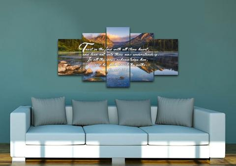 #13 wall art trust in the lord Christian50th Wedding AnniversaryGifts