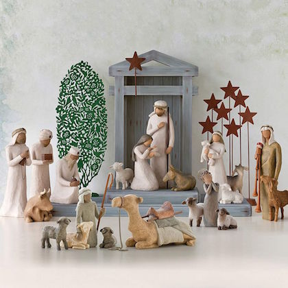 #14 nativity scene stable horses Christian christmas gifts for wife
