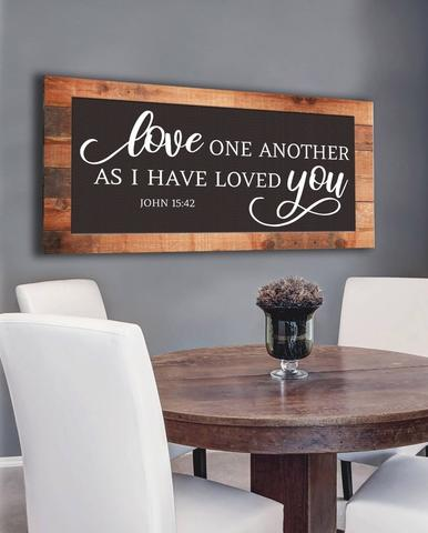 #14 wall art love one another Christian50th Wedding AnniversaryGifts