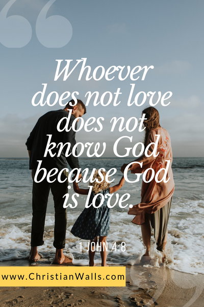 1 John 14 8 Whoever does not love does not know God because God is love picture print poster bible verse