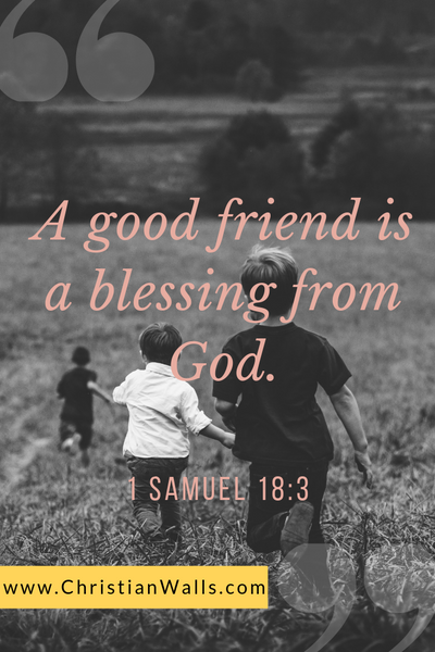 1 Samuel 18 3 A good friend is a blessing from God picture print poster bible verse