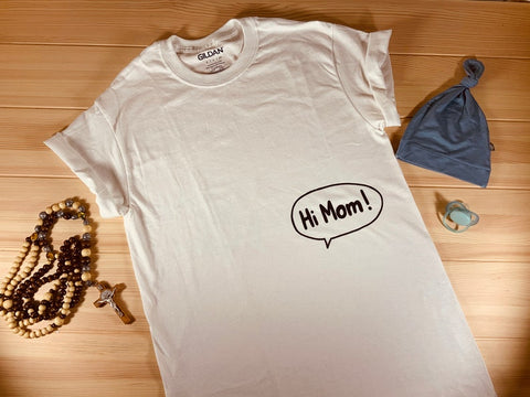 #1 hi mom t-shirt christian gifts for new mom dad expecting parents