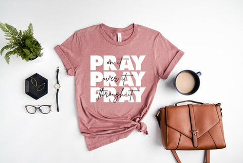 #1 pray on it tshirt inexpensive christian gifts for women