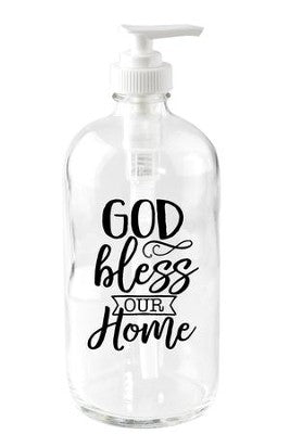 #2 God Bless Our Home Soap Dispenser  House Blessing Gifts Ideas (Christian Themed)
