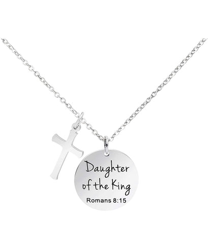 Romans 8 15 necklace Christian baptism gifts