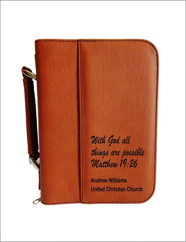 4 Matthew 19 26 personalized bible cover Christian Gift for Pastors