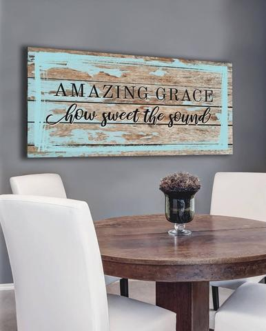 #4 amazing grace canvas Christian mother's day gifts for church