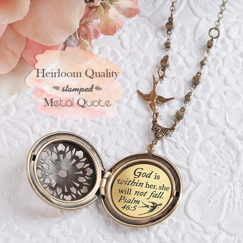 #4 psalms 46 5 necklace inexpensive christian gifts for women