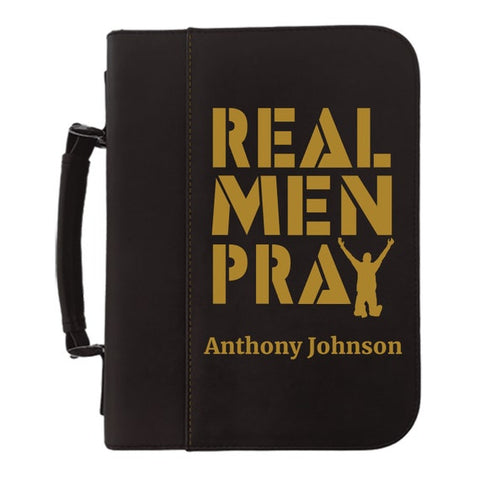 #4 real men pray bible cover Christian Gifts for boyfriend