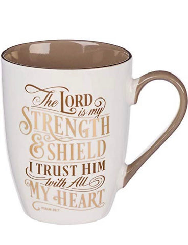 Psalm 28 7 Lord is my strength Christian baptism gifts