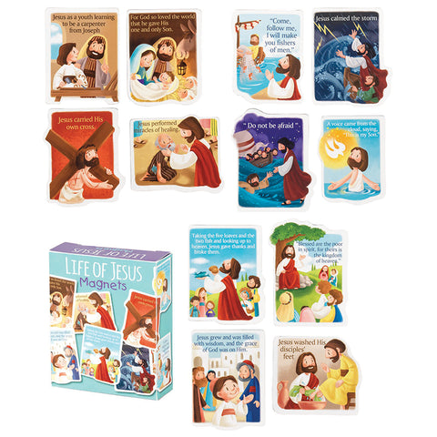 #5 life of jesus magnets Christian Easter Gifts for Kids