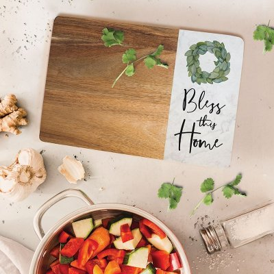 #6 Bless This Home, Cutting Board House Blessing Gifts Ideas (Christian Themed)