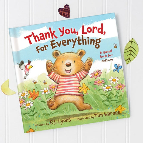#6 Thank you lord book  Christian personalized baby gifts